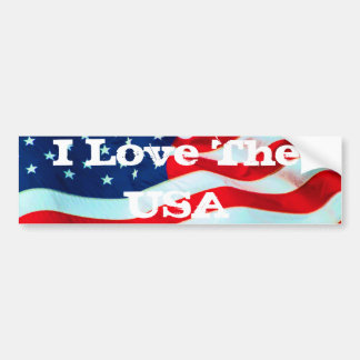Old Glory In The Breeze Bumper Stickers