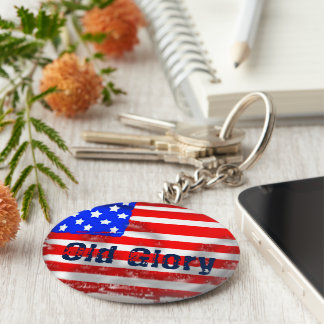 Old Glory Key Ring