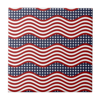 OLD GLORY! (patriotic flag design) ~ Small Square Tile