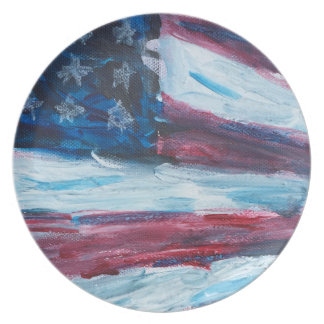 Old Glory Perspective Dinner Plates