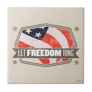 Old Glory Small Square Tile