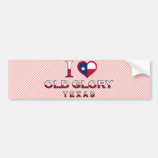 Old Glory Texas Bumper Stickers