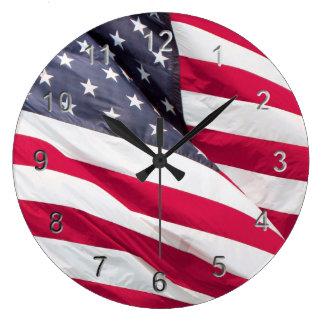 Old Glory....The American Flag. Clocks