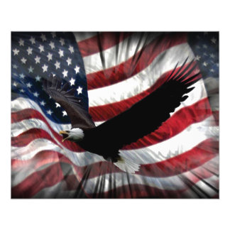 Old Glory with Eagle 11.5 Cm X 14 Cm Flyer