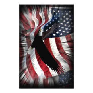 Old Glory with Eagle 14 Cm X 21.5 Cm Flyer