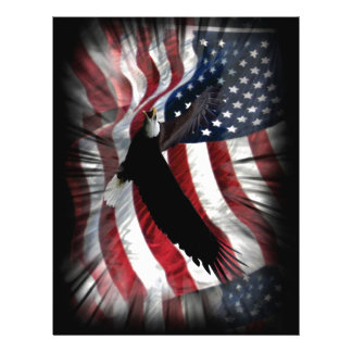 Old Glory with Eagle 21.5 Cm X 28 Cm Flyer