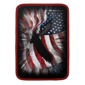 Old Glory with Eagle MacBook Sleeves