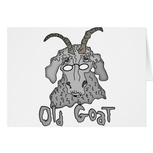 Old Goat Funny Cartoon Greeting Card