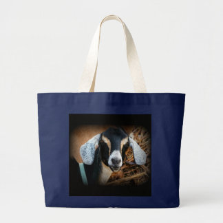 Old Goat Nubian Portrait Photo Large Tote Bag