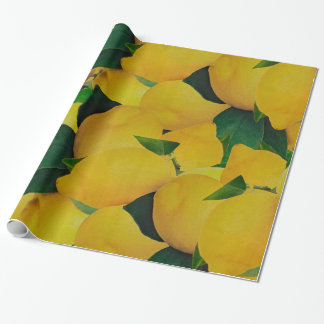 Old Gold Lemons Wrapping Paper