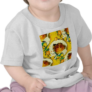 Old Golden Rose Yellow Pattern by Sharles Shirts