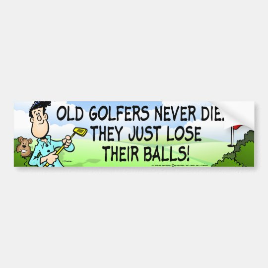 Old Golfer Bumper Sticker