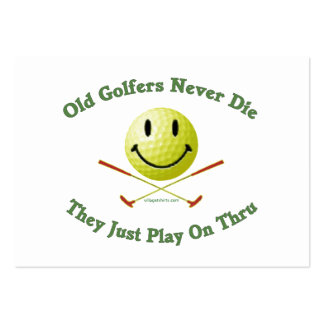 Old Golfers Never Die Play Thru Pack Of Chubby Business Cards