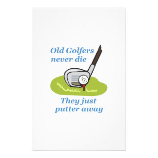 OLD GOLFERS NEVER DIE STATIONERY DESIGN