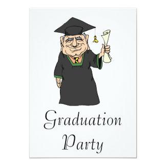 Old Graduate 13 Cm X 18 Cm Invitation Card