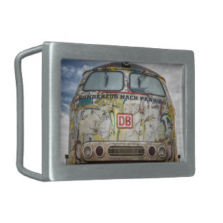 Old graffiti truck rectangular belt buckles