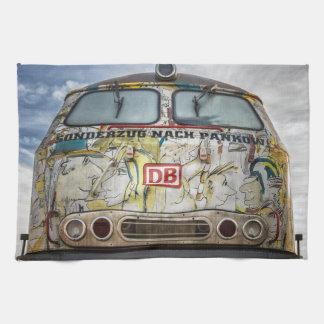 Old graffiti truck tea towel