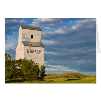 Old Grain Elevator In Virgelle, Montana, USA Card