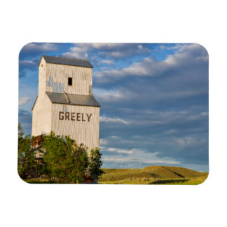 Old Grain Elevator In Virgelle, Montana, USA Magnet