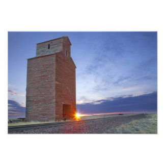 Old granary at Collins Montana at sunrise Photo Print