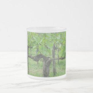 Old grape vine frosted glass mug