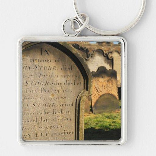 Old Gravestones Cemetery Key Chains