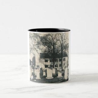 old graveyard mug