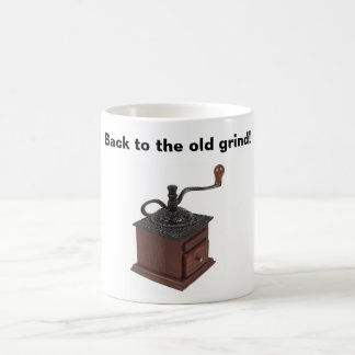 Old grind cup basic white mug