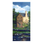 Old Grist Mill, Canada, Original Painting Rack Cards