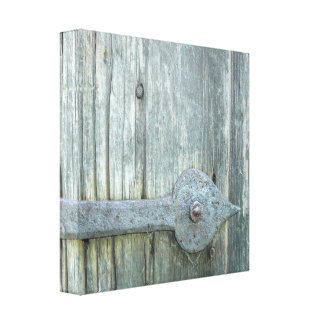 Old Grist Mill Door Latch Canvas Print
