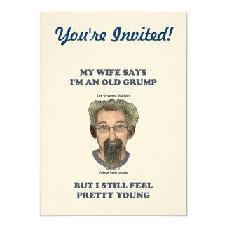 Old Grump Wife Says 13 Cm X 18 Cm Invitation Card
