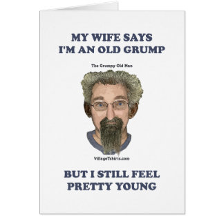 Old Grump Wife Says Note Card