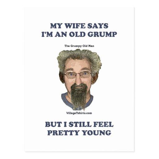Old Grump Wife Says Post Card