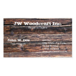 Old Grunge Wood Texture Pack Of Standard Business Cards