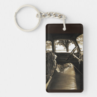 Old Grungy Truck Cab -Kaychain Key Ring