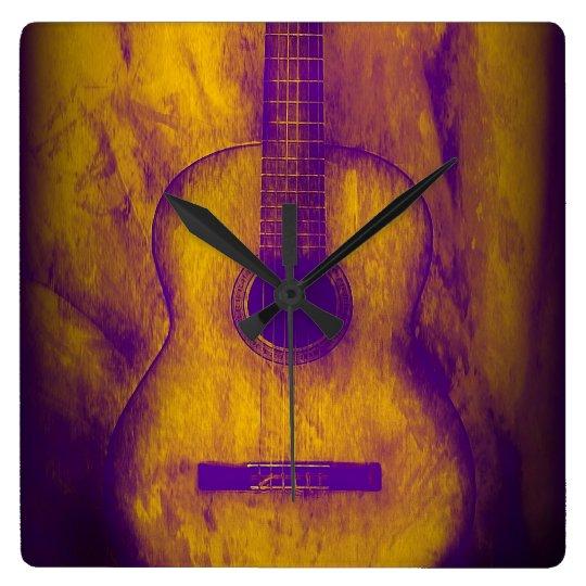 Old Guitar Wall Clock