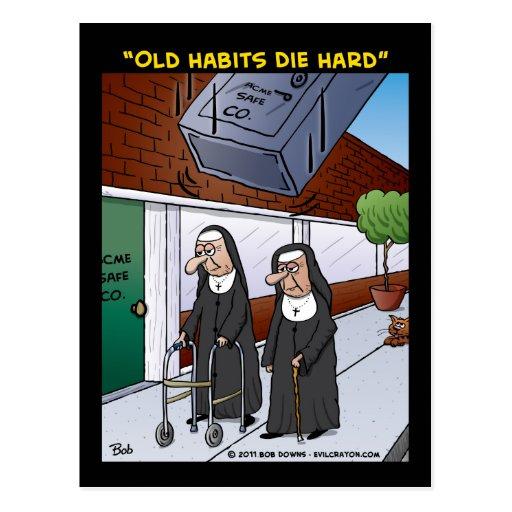 """""""Old Habits Die Hard"""" Post Cards"""