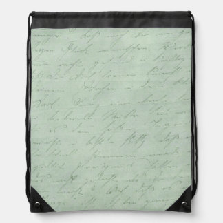Old handwriting love letters faded antique script drawstring bag