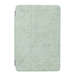 Old handwriting love letters faded antique script iPad mini cover