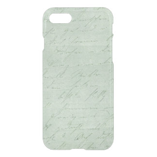 Old handwriting love letters faded antique script iPhone 8/7 case
