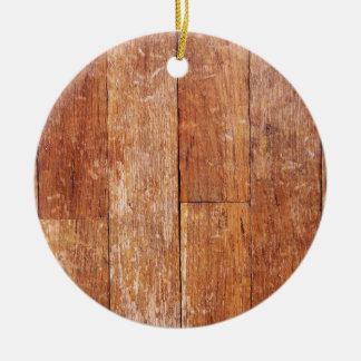 Old Hardwood Look Christmas Ornament