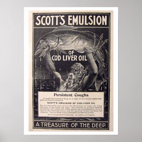 Old Health Poster - Cod Liver Oil