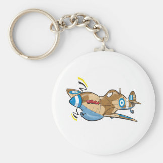 old hellenic royal air force spitfire basic round button key ring