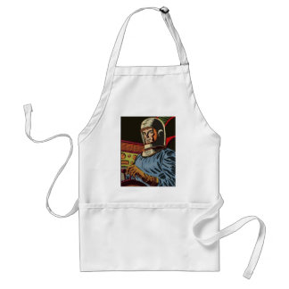 Old hero from the future standard apron