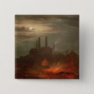 Old Hetton Colliery, Newcastle 15 Cm Square Badge