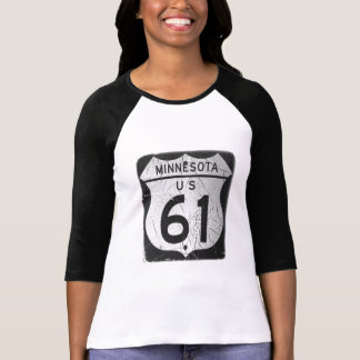 Old Highway 61 sign T-shirts