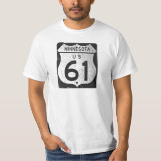 Old Highway 61 sign Tshirts