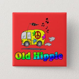 Old Hippie Bus 15 Cm Square Badge