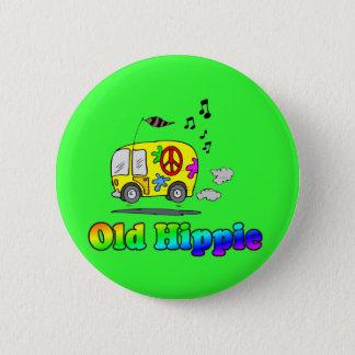 Old Hippie Bus 6 Cm Round Badge