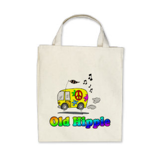 Old Hippie Bus Tote Bag